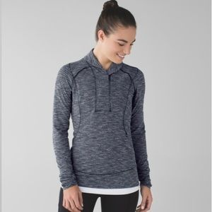 Lululemon Think Fast Pullover in Coco Pique Size 6